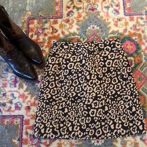 Ann Taylor Loft Skirt 00P Animal Print